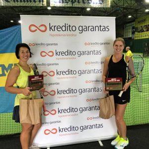 """Turnyro """"Kredito Garantas Cup 2017"""" I vietos moterų dvejetų laimėtojos"""