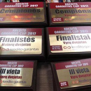 KREDITO GARANTAS CUP 2017 apdovanojimai moterų ir vyrų dvejetams. Turi svajonę nugalėti - dalyvauk!